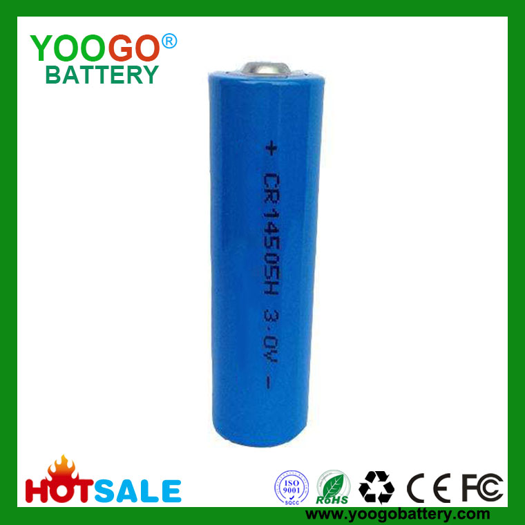 Li-MnO2 Battery 3.0V CR14505 1500mAh Lithium Manganese Dioxide Battery