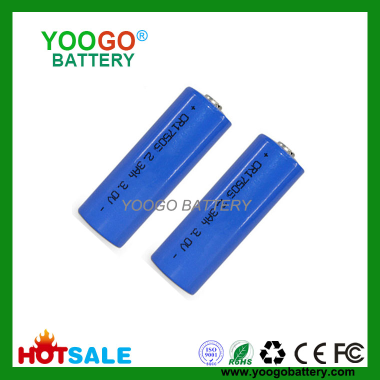 Li-MnO2 Battery 3.0V CR123A 1500mAh Lithium Manganese Dioxide Battery