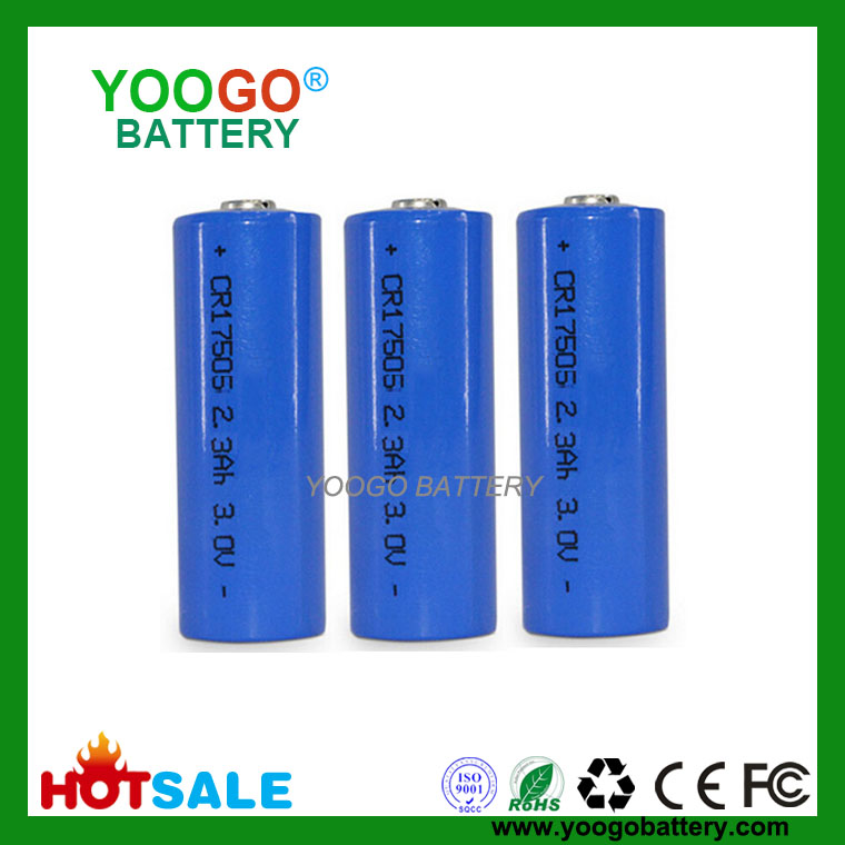 Li-MnO2 Battery 3.0V CR17505 2300mAh Lithium Manganese Dioxide Battery
