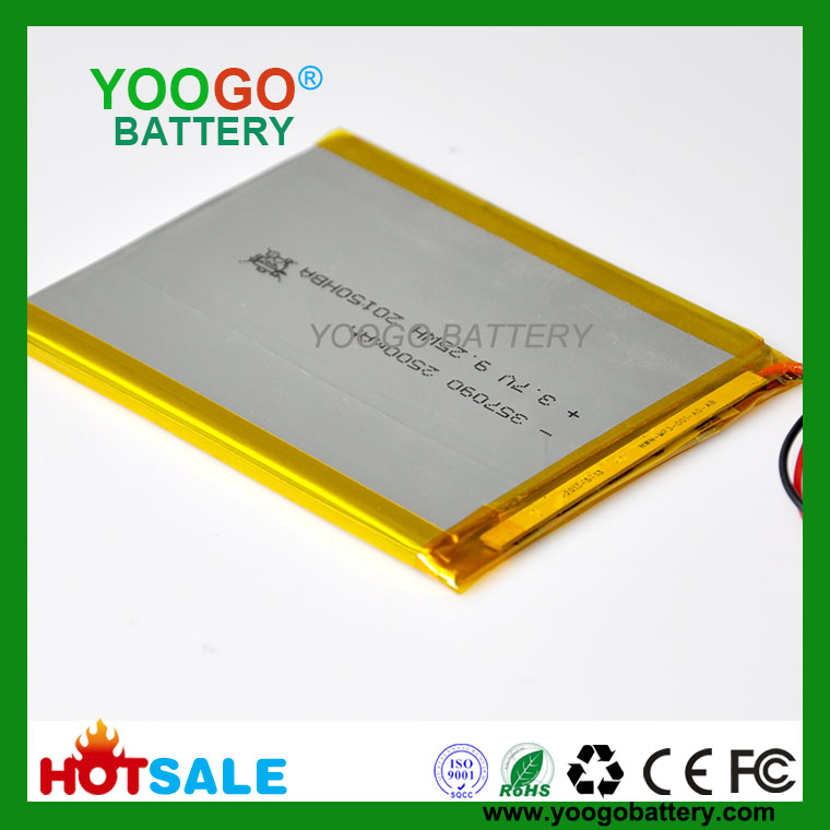 357095-2500mAh 3.7V Lithium Polymer Battery for  Tablet PC,MID,Digital Device