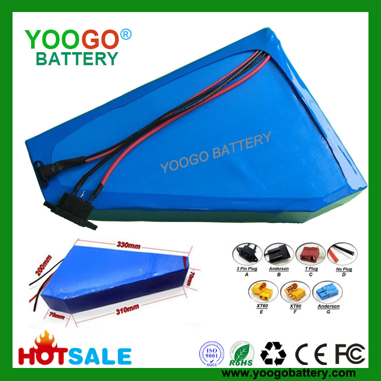 48V 52V 30AH 1500W Triangle Electric Battery Pack for E-bike