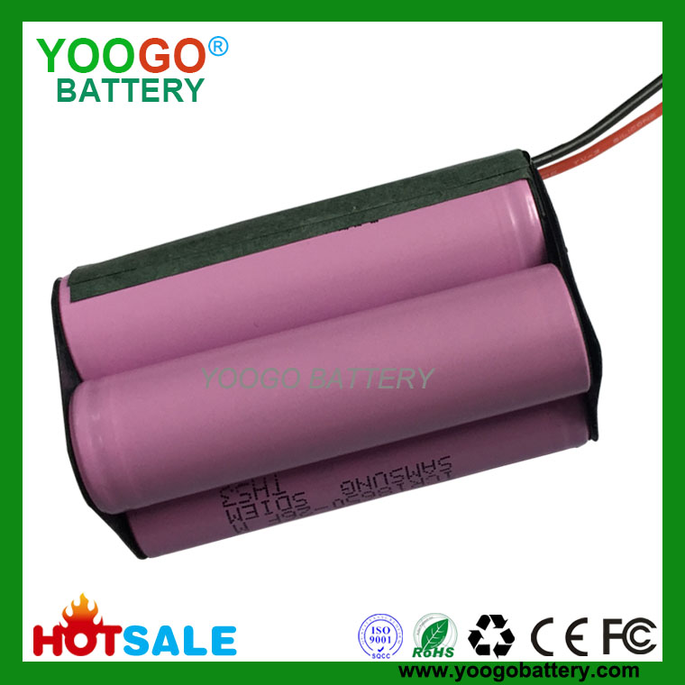 4S2P 14.8V 2600mAh high quality Vacuum cleaner lithium ion battery packs with 4 original Samsung ICR18650-26F 2600mAh cells